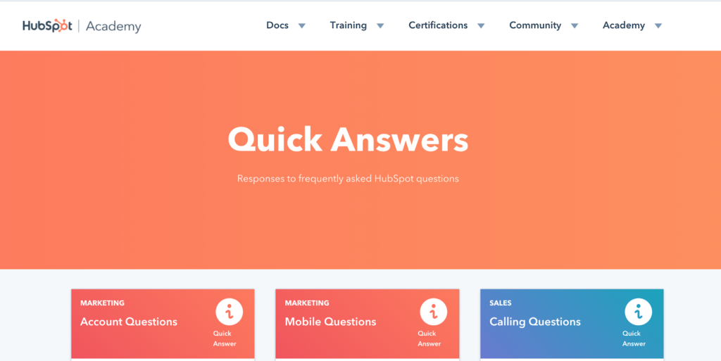 Hubspot Quick Answers - Tear Down of Hubspot Knowledge base