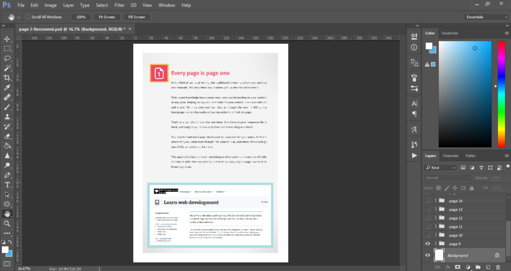 Adobe Photoshop - Tools for Technical Writing