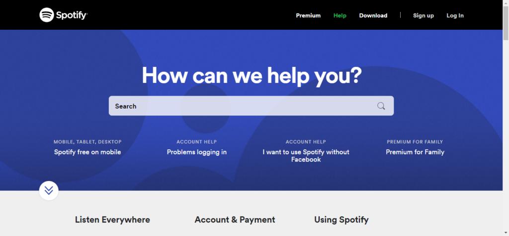 Spotify Search Bar - Online Knowledge Base