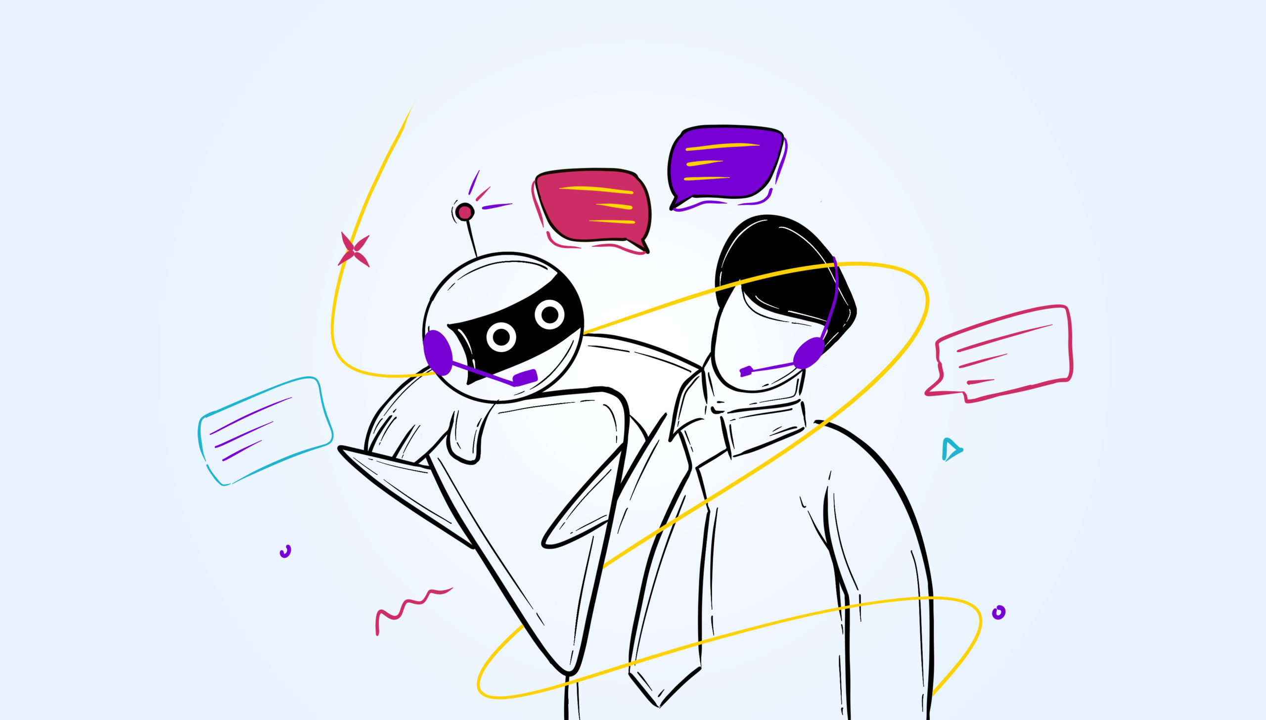 How Human & Chatbots can optimize your customer support